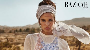 Sara Sampaio is Queen of the Desert for Harper's Bazaar Singapore