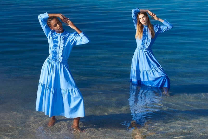 Karly Loyce and Sophie Rask star in Stella McCartney's spring-summer 2018 campaign
