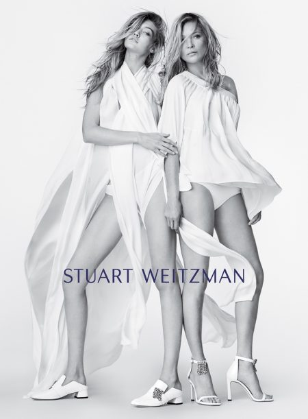 Stuart Weitzman taps Gigi Hadid and Kate Moss for spring-summer 2018 campaign