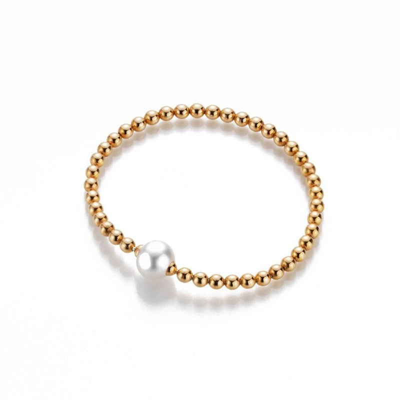 Studio 247 South SeaCultured Pearl and Gold Plated Bracelet