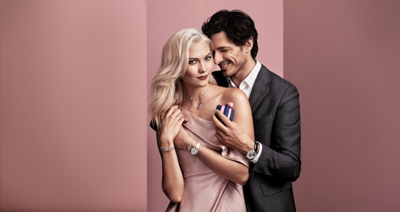 Karlie Kloss and Andrés Velencoso are all smiles in Swarovski's Valentine's Day 2018 campaign