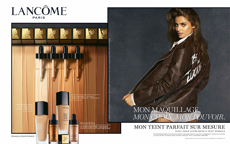 Taylor Hill appears in new Lancome makeup advertisement