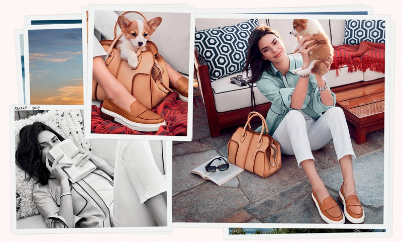 Kendall Jenner is all smiles in Tod's spring-summer 2018 campaign