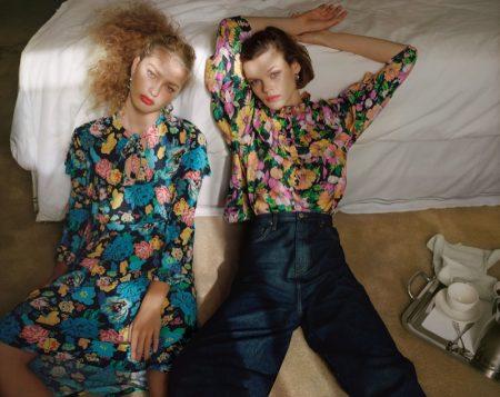 Cara Taylor & Dorit Revelis Embrace Prints in Topshop's Spring 2018 Campaign