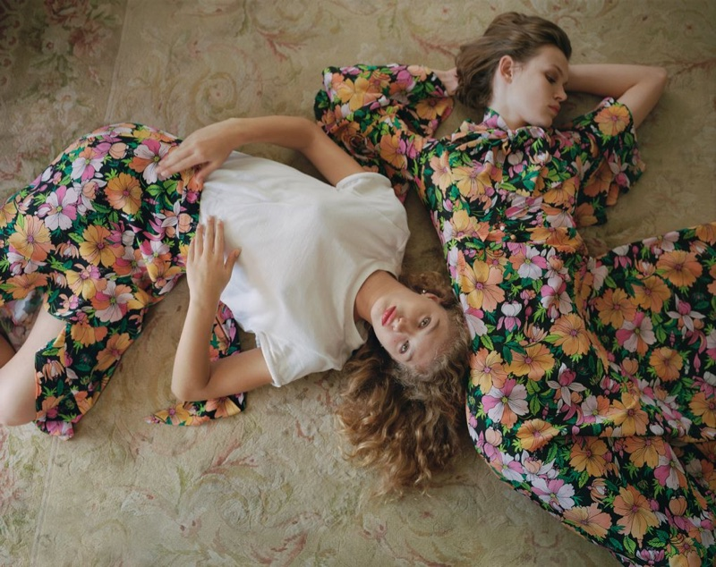 Topshop feature's floral prints in spring-summer 2018 campaign