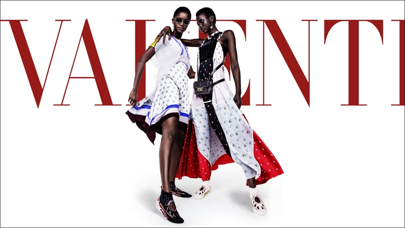 Adut Akech and Oumie Jameh star in Valentino's spring-summer 2018 campaign
