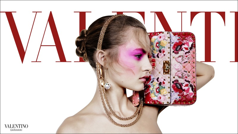 Felice Noordhoff appears in Valentino's spring-summer 2018 campaign