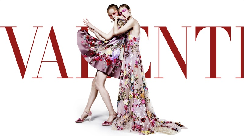 An image from Valentino's spring 2018 advertising campaign