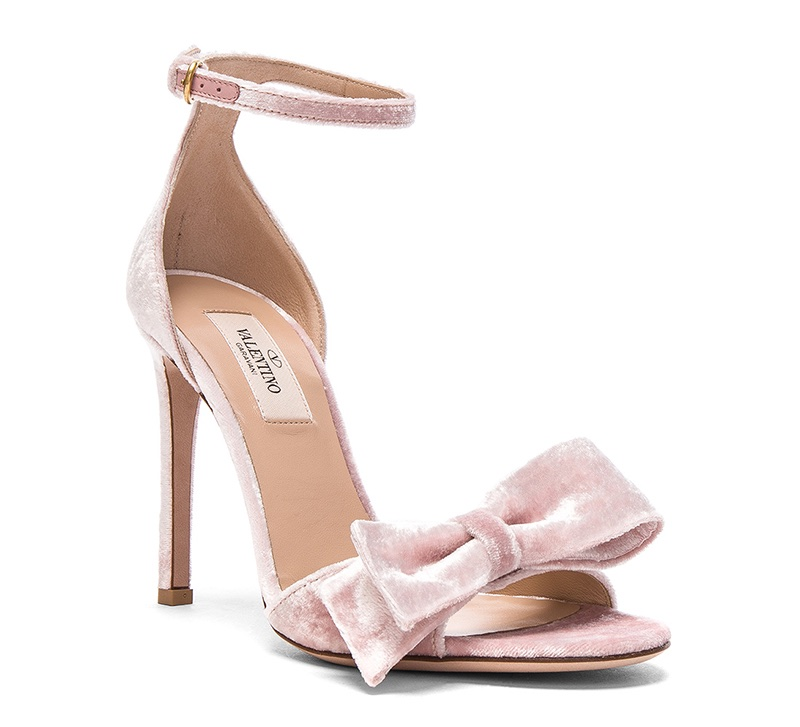 Valentino Velvet Bow Heels $477 (previously $795)