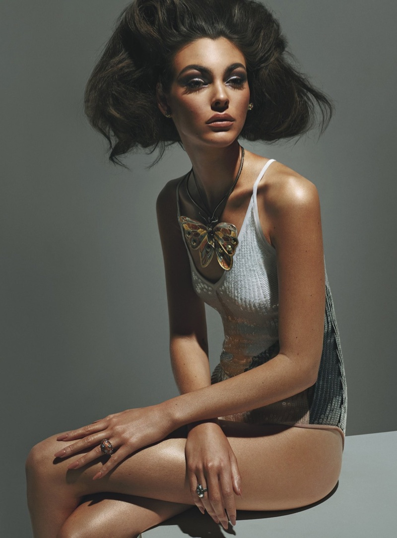 Vittoria Ceretti Models the Spring Collections for W Magazine