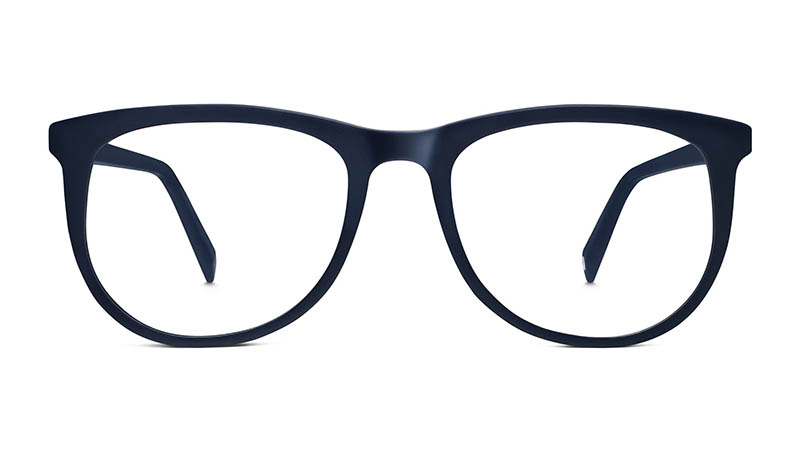 Warby Parker Hyde Glasses in Matte Navy $95