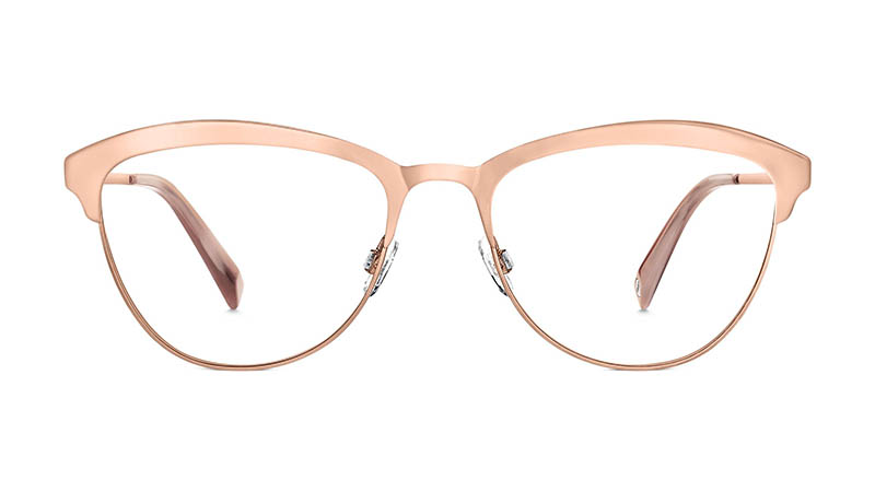 Warby Parker Louise Metal Glasses in Rose Gold $145