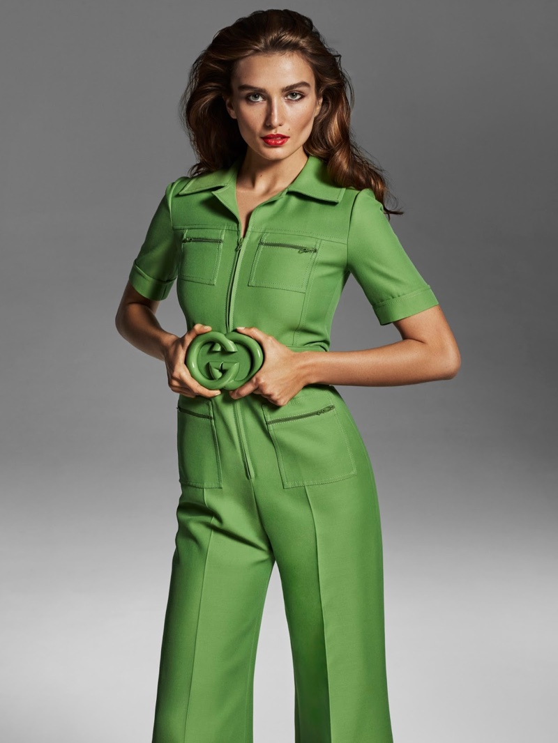 Andreea Diaconu Takes on the Spring Collections for Porter Edit