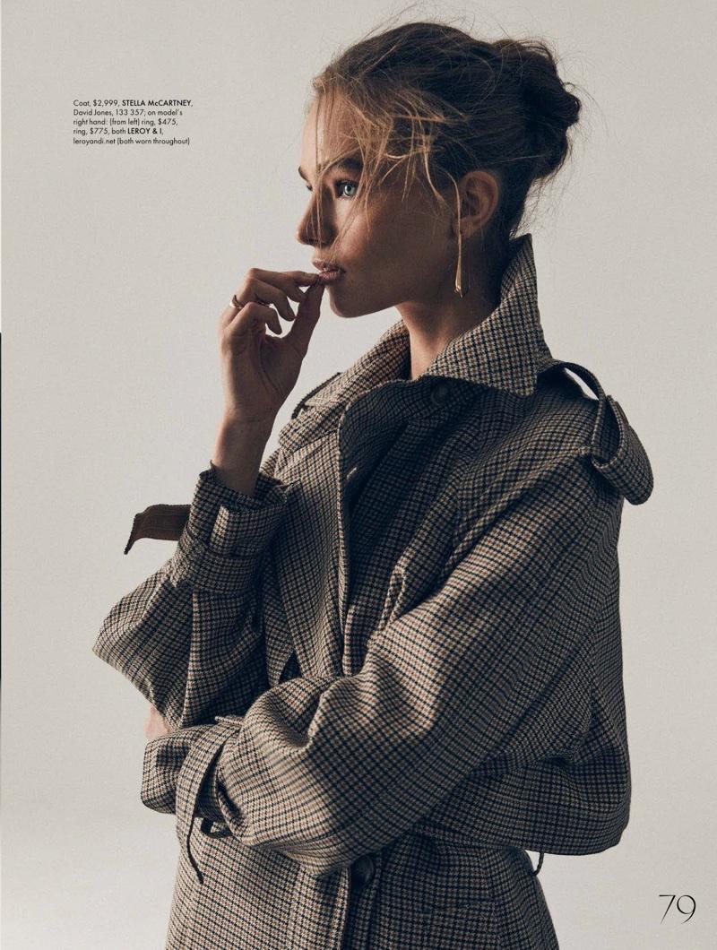 Anna Mila Guyenz Poses in Boyish Styles for ELLE Australia