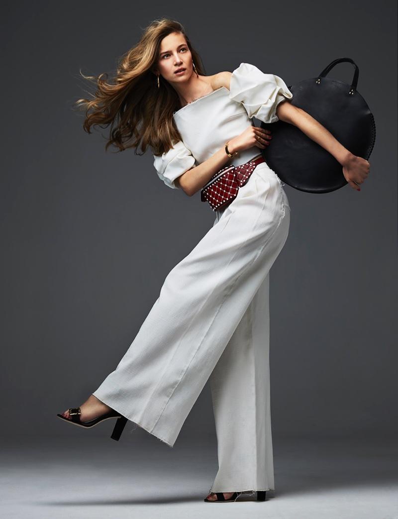 Anne-Marie van Dijk Models Chic Styles for Grazia Holland