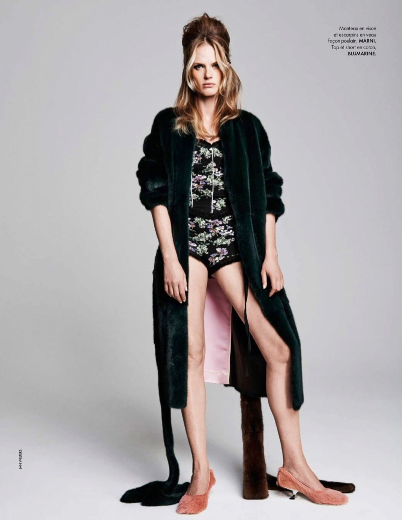 Anne Vyalitsyna Transforms in the Spring Collections for ELLE France