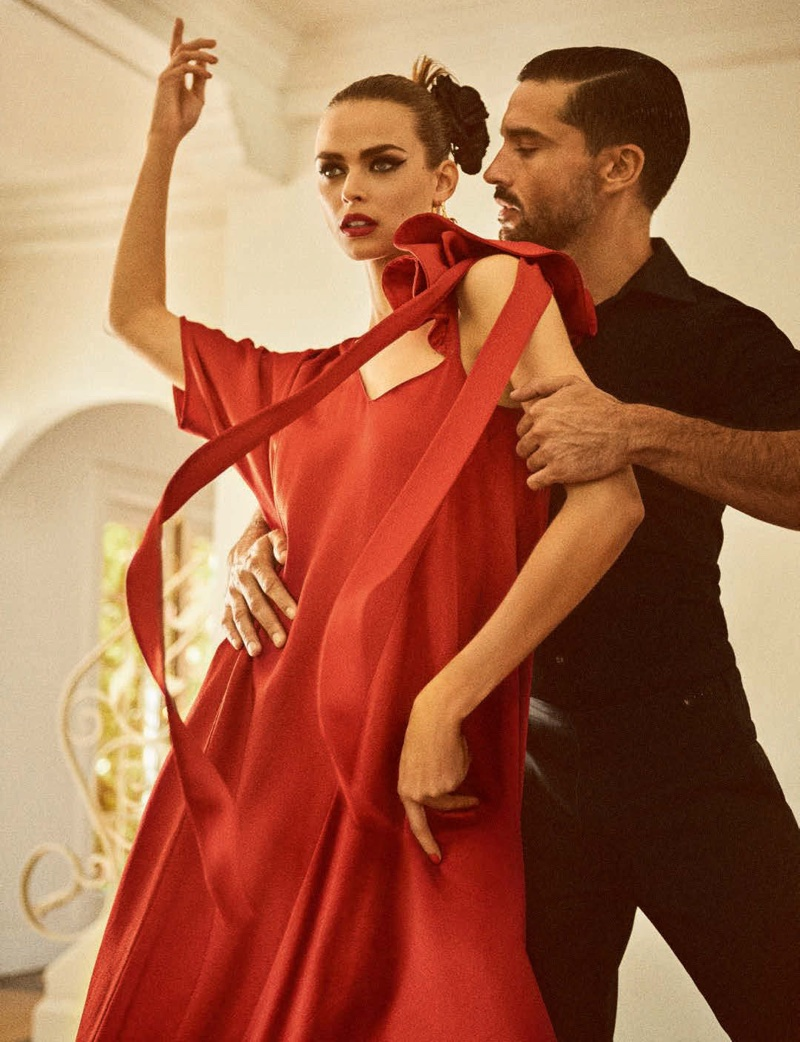 Birgit Kos Steps Out in Dancing Styles for Vogue Germany