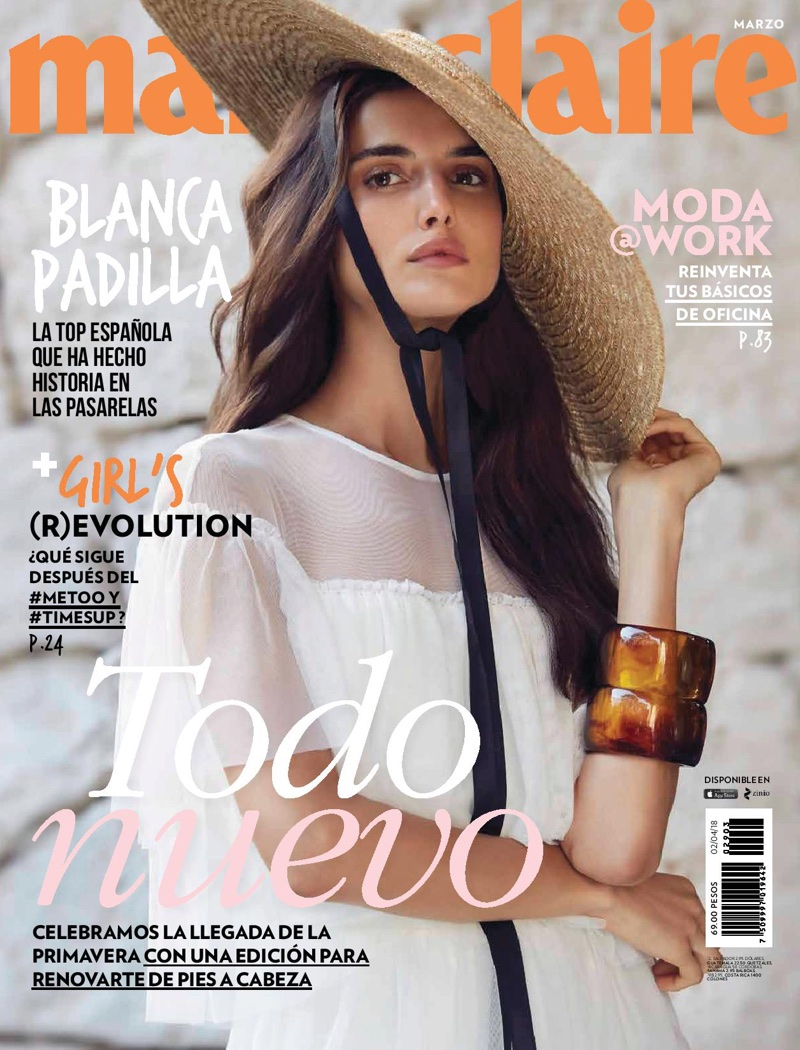 10caf349b0 Blanca Padilla Wears Elegant Looks for Marie Claire Mexico