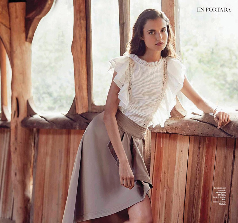 Blanca Padilla Wears Elegant Looks for Marie Claire Mexico