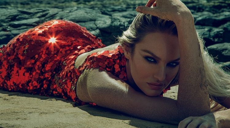 Candice Swanepoel Dazzles On the Beach for DQKER Nation