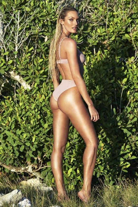 Candice Swanepoel Models Her Debut Swimsuit Collection - See the Photos!