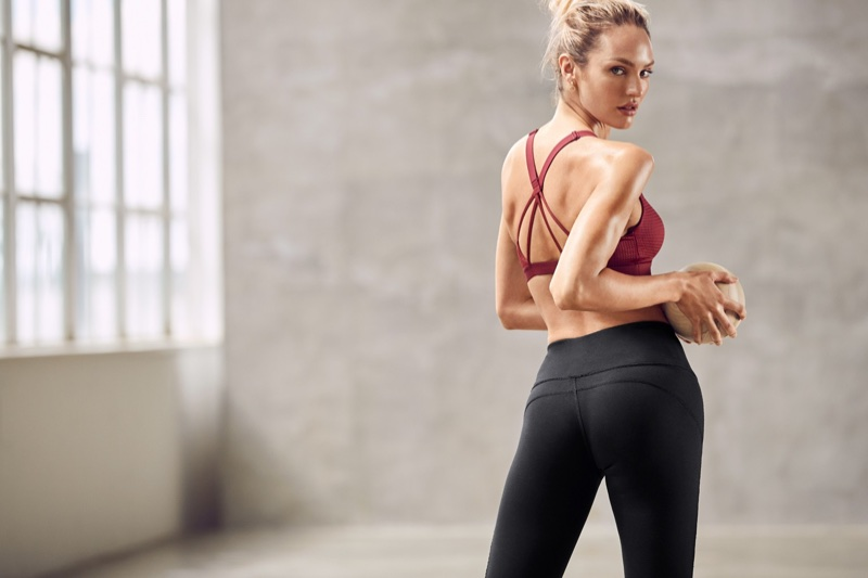 Candice Swanepoel models for Victoria Sport