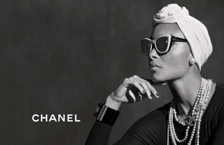 Adwoa Aboah stars in Chanel Eyewear's spring-summer 2018 campaign