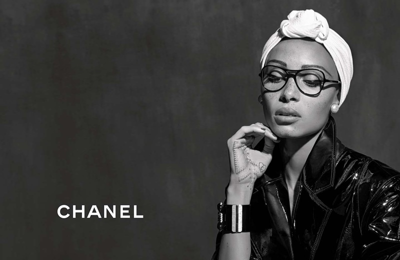 Karl Lagerfeld photographs Chanel Eyewear's spring-summer 2018 campaign