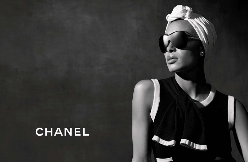 An image from Chanel Eyewear's spring 2018 advertising campaign