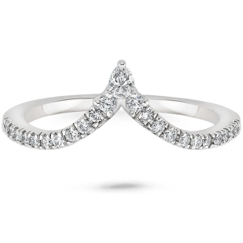 Nouveau Diamond Ring (1/4 CT. TW.) with 0.75 Carat Pear Diamond from Brilliant Earth