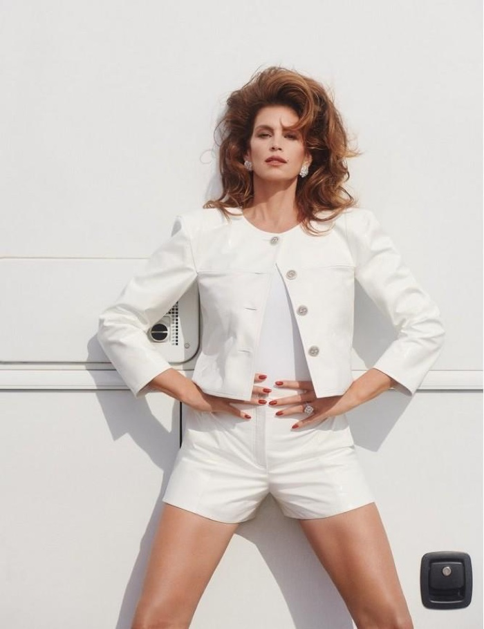Cindy Crawford Hits the Road in Style for POP Magazine