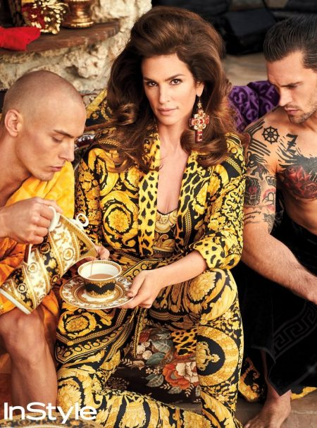 Cindy Crawford Looks Glam in Head to Toe Versace for InStyle Shoot