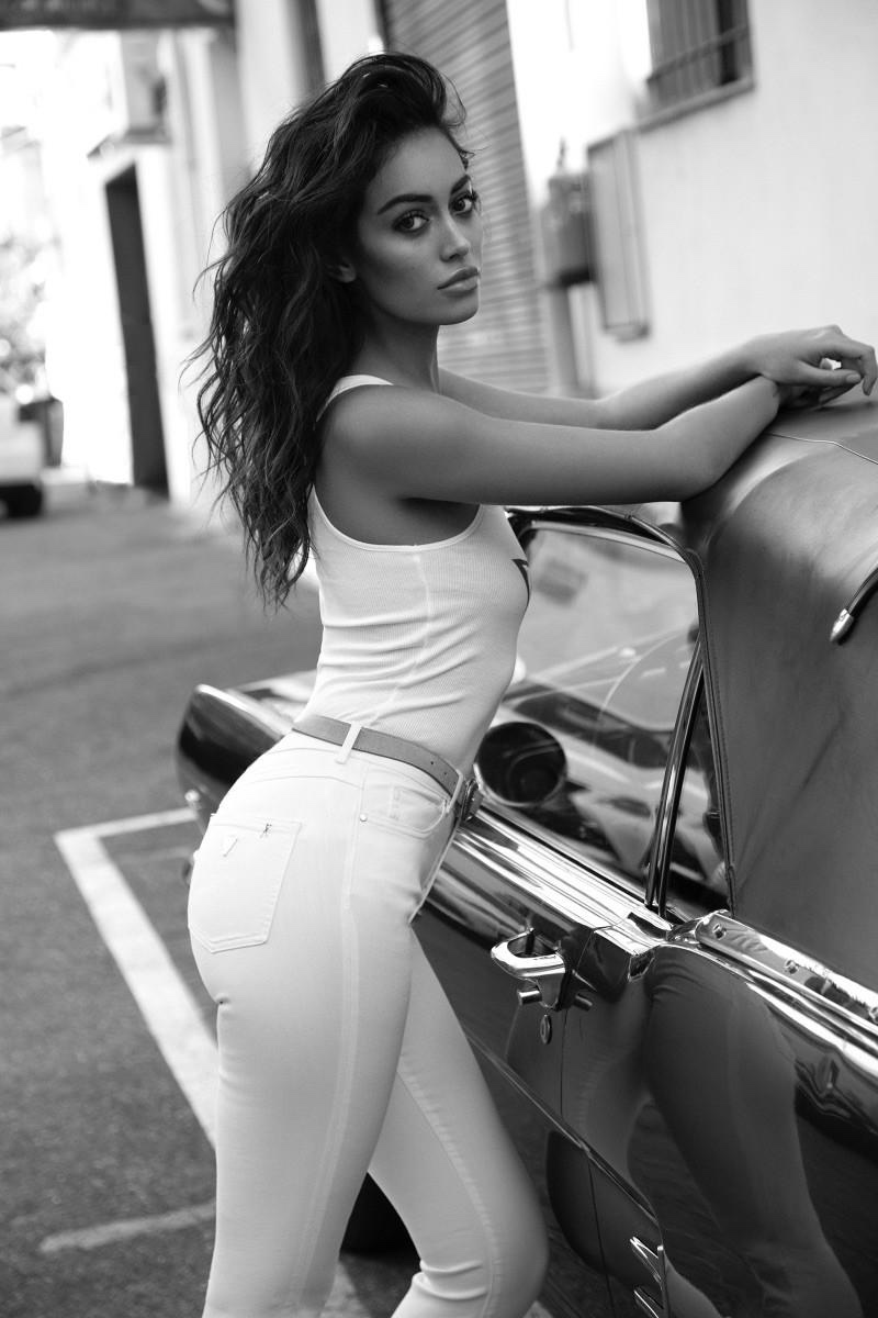 Cindy Kimberly Sizzles in Guess Jeans for ELLE Spain
