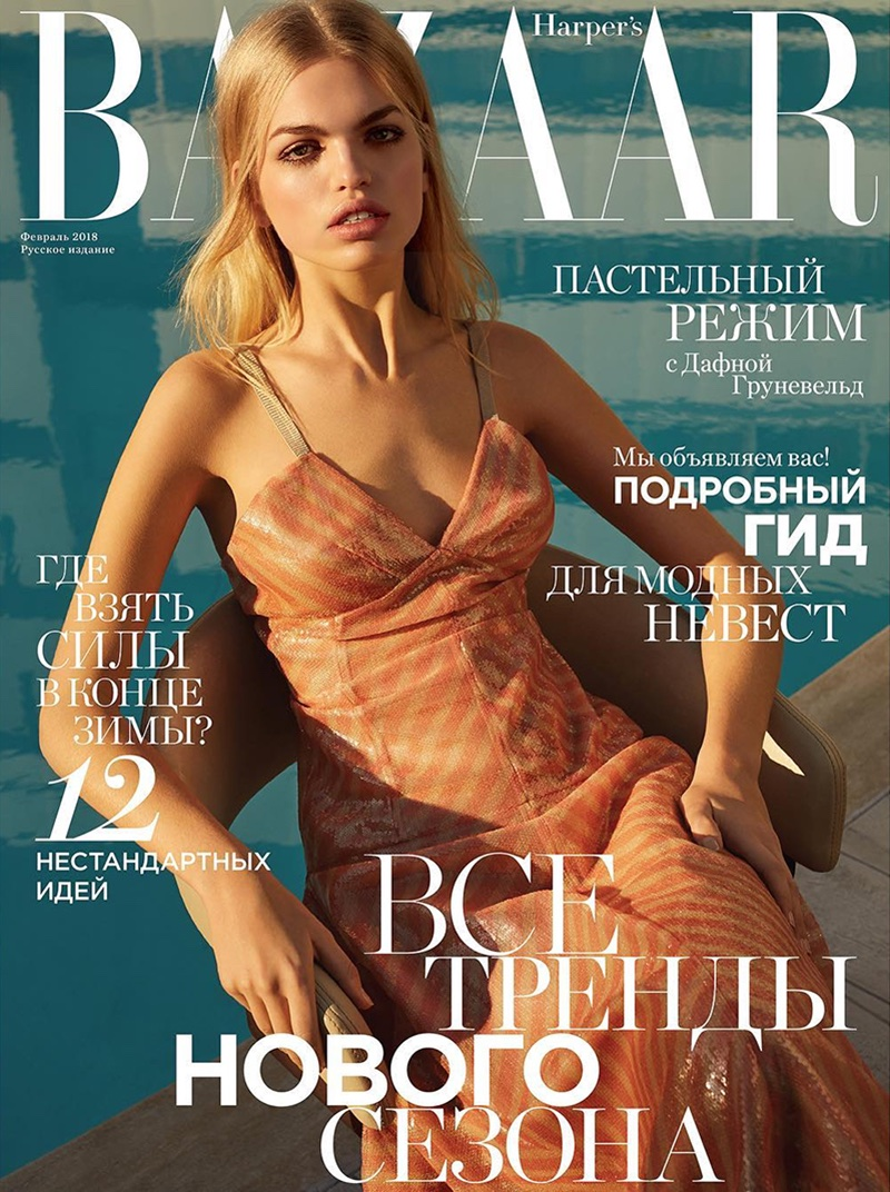 Daphne Groeneveld Models Fendi Fashion for Harper's Bazaar Russia