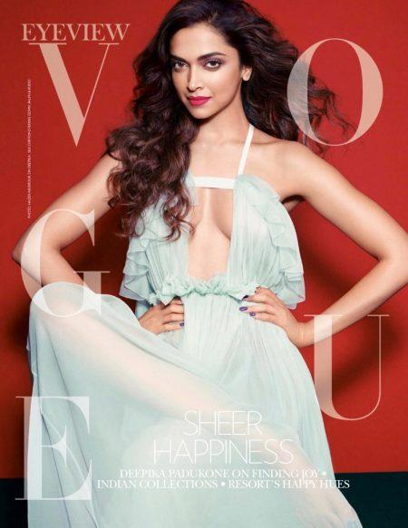 Deepika Padukone Wears Vibrant Styles for Vogue India