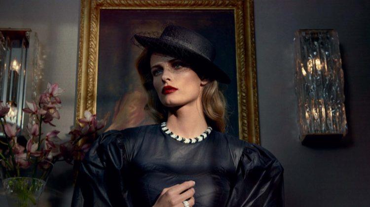 Edita Vilkeviciute Models Femme Fatale Fashions for PORTER