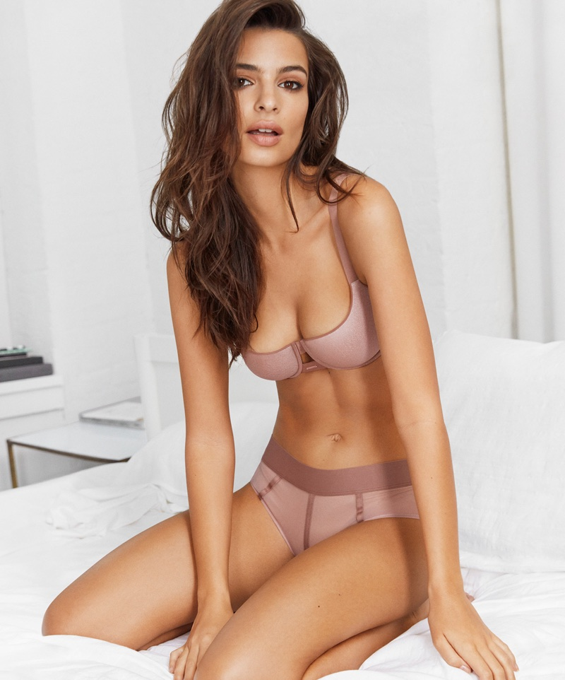 An image from DKNY Intimates spring 2018 advertising campaign with Emily Ratajkowski