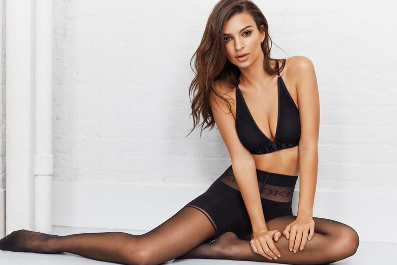 Emily Ratajkowski Strips Down for DKNY Intimates' Spring 2018 Campaign