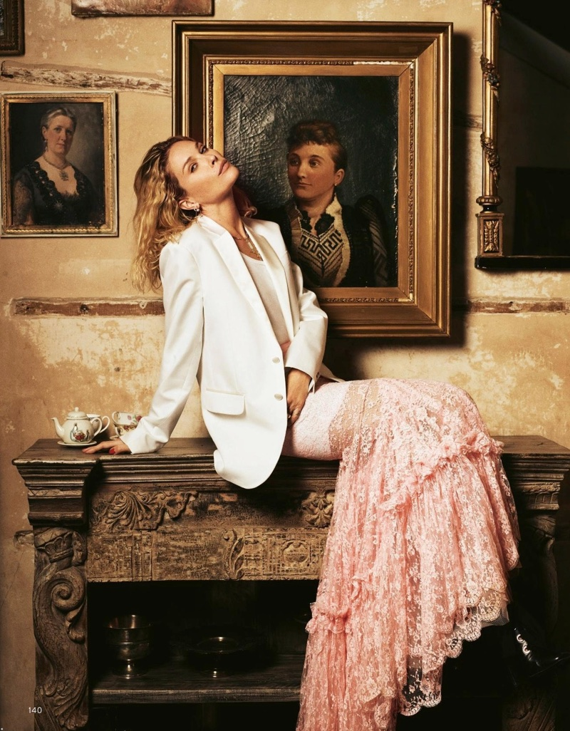 Erin Wasson Poses in Romantic Dresses for Grazia Italy