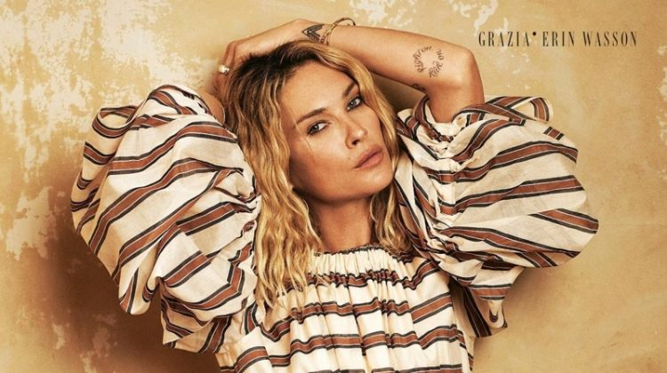 Erin Wasson Poses in Romantic Dresses for Grazia Italy