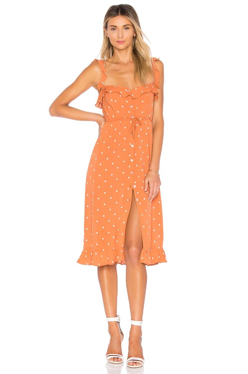 For Love & Lemons Natalia Dot Midi Dress $216
