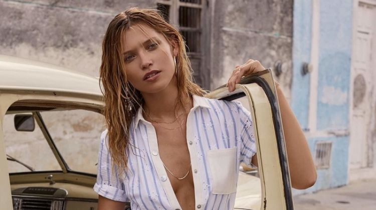For Love & Lemons spotlights Hermosa eyelet jumpsuit from spring 2018 collection