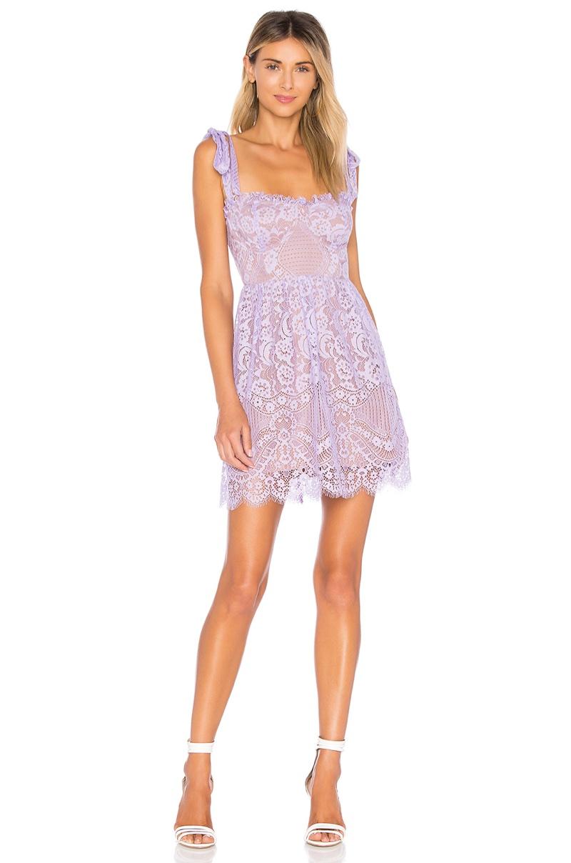For Love & Lemons Valentina Lace Mini Dress $246