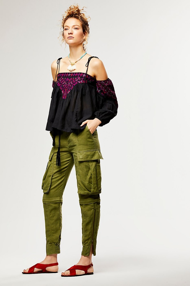 Free People Vacay Vibin Top and Nicholas K Fatigue Pant