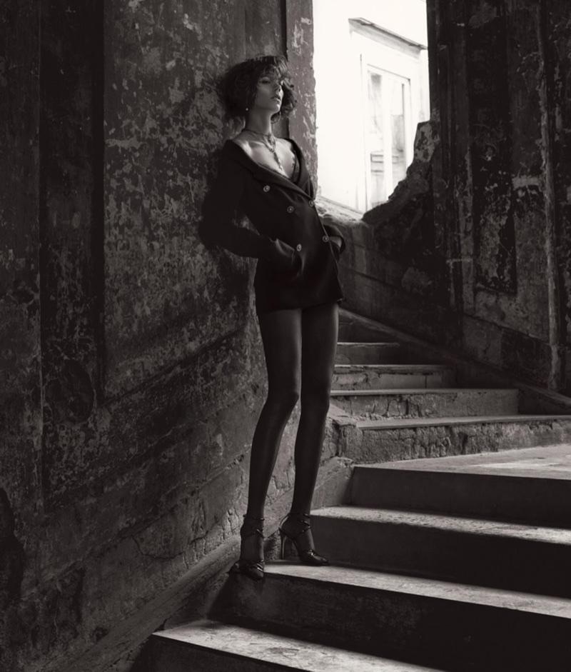 Freja Beha Erichsen Stuns in Special Occasion Styles for WSJ. Magazine