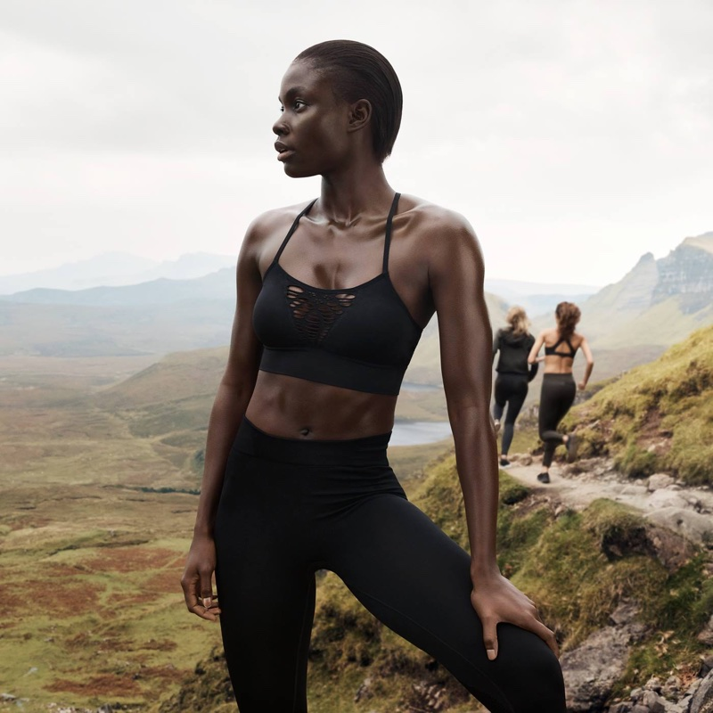 H&M Conscious Sports Bra with Low Support and Sports Tights