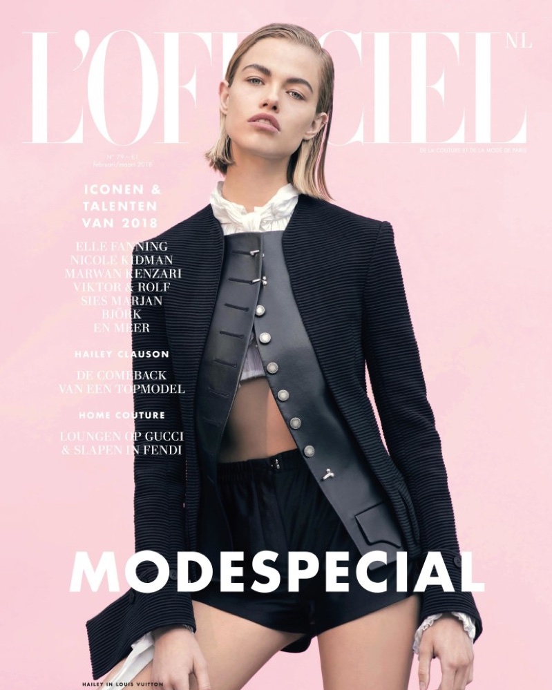 Hailey Clauson Poses in Sleek Styles for L'Officiel Netherlands