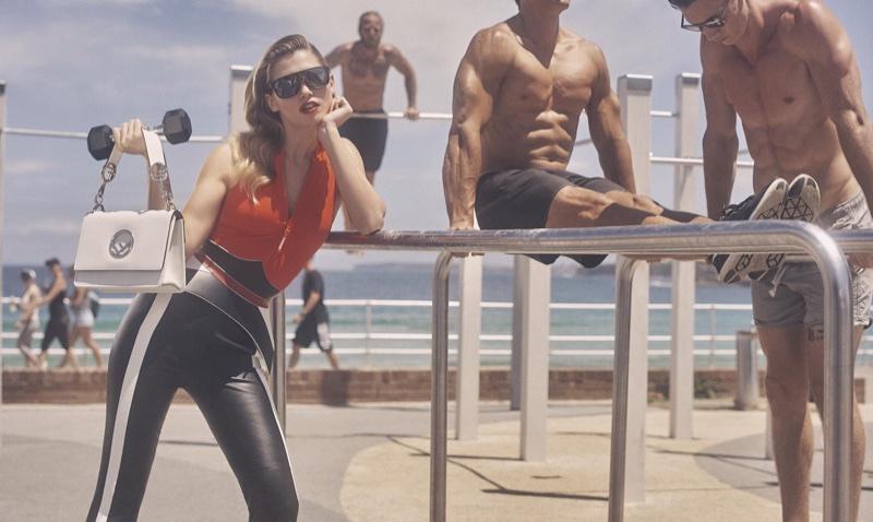 Hana Jirickova Poses in Sporty Looks at the Beach for Vogue Australia