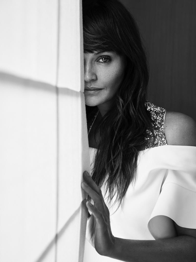 Helena Christensen Gets Sensual in Lingerie Style for Harper's Bazaar Ukraine
