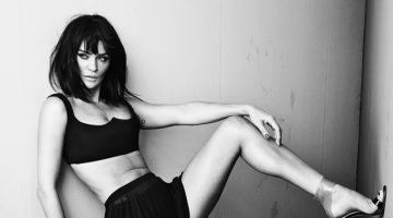 Helena Christensen Stuns in Black & White for SBJCT Journal